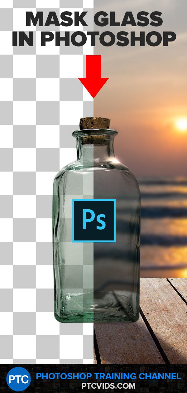 The BEST WAY To Select and Mask GLASS (or Transparent Objects) in Photoshop!