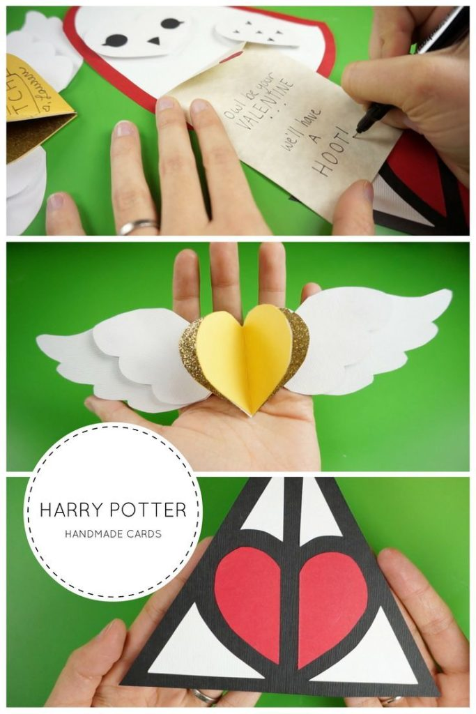 Harry Potter inspired handmade cards! An owl, a golden snitch and sanctuaries ...