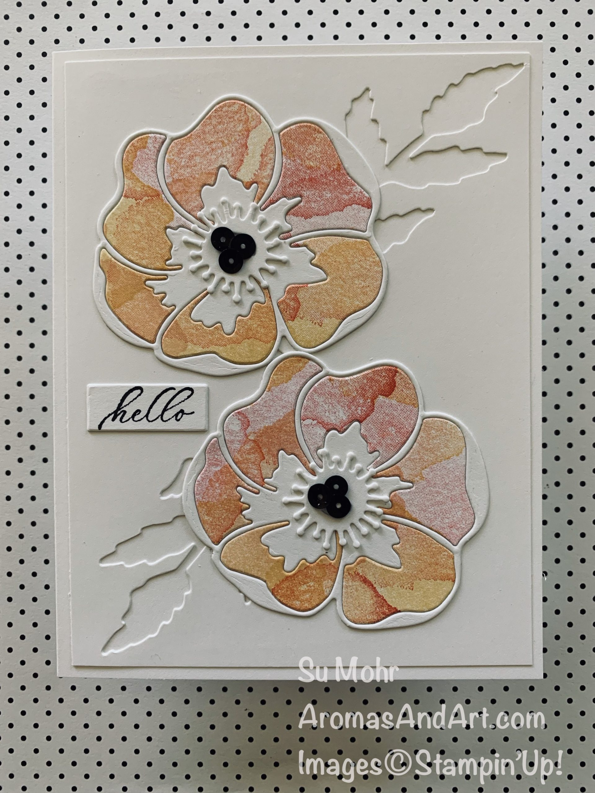 Painted Poppies Twin Card #1 - Aromas and Art