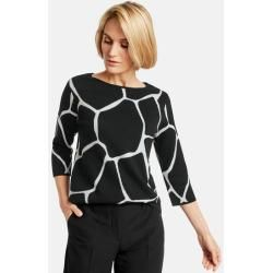 Oversize sweater with 3/4 sleeves black Gerry Weber