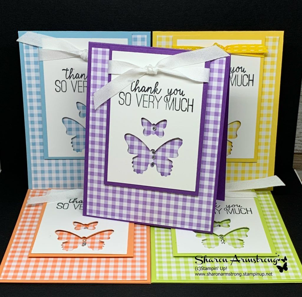 The Best Simple Template for Thank You Cards - TX Stampin' Sharon