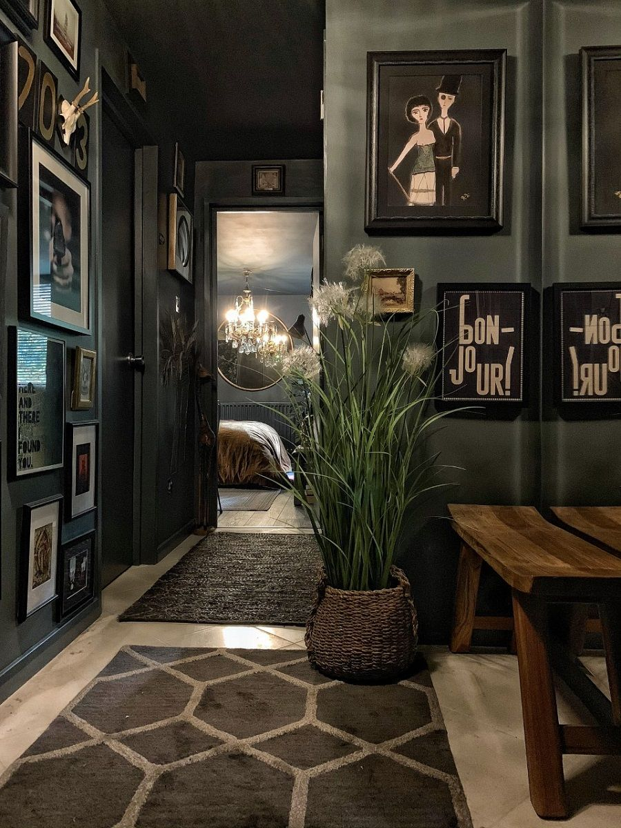 A Inky-Hued Home Full of Stunning Art and Cosy Corners - Dear Designer