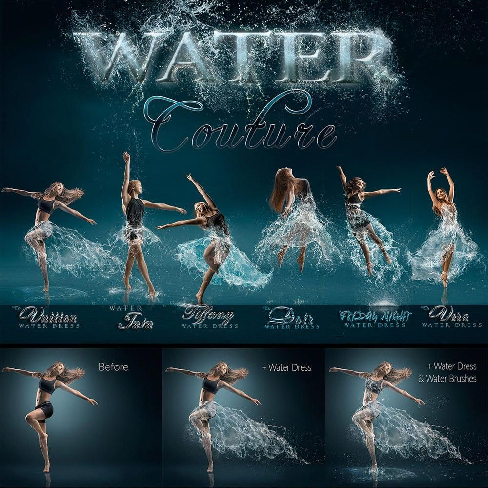 Water Couture for Photoshop + Tutorials ⋆ Game Changers by Shirk Photography LLC
