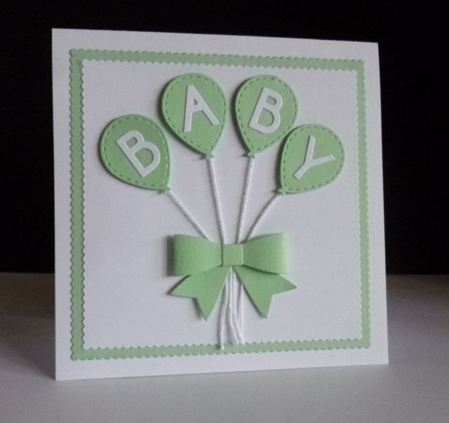 New Baby Balloons by sistersandie - Cards and Paper Crafts at Splitcoaststampers
