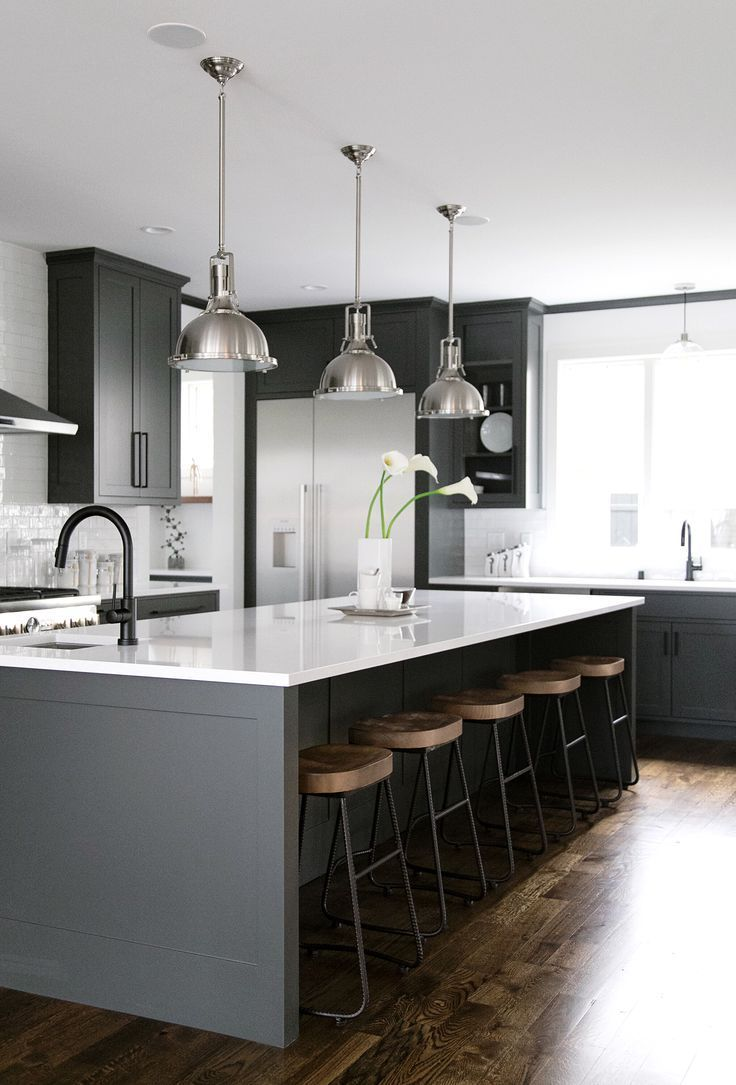 40 romantic and inviting gray kitchens for your home - new