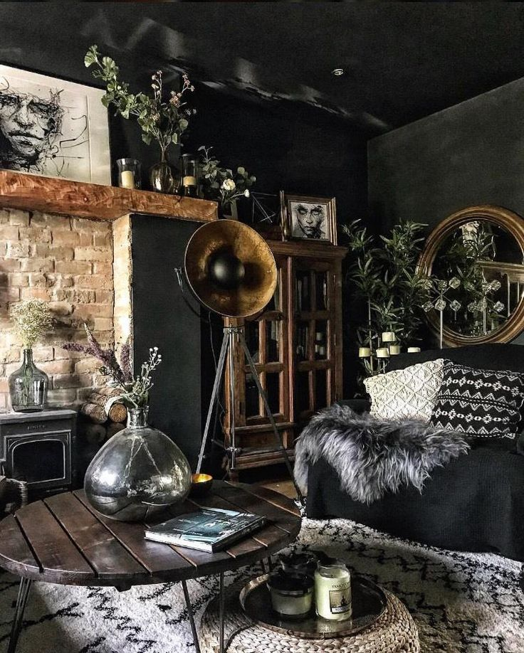 "Nicola Broughton-""The Girl with the Green Sofa""Blog Home Eniko Kirkwood's Dramatic, Dark, yet Colourful Home"
