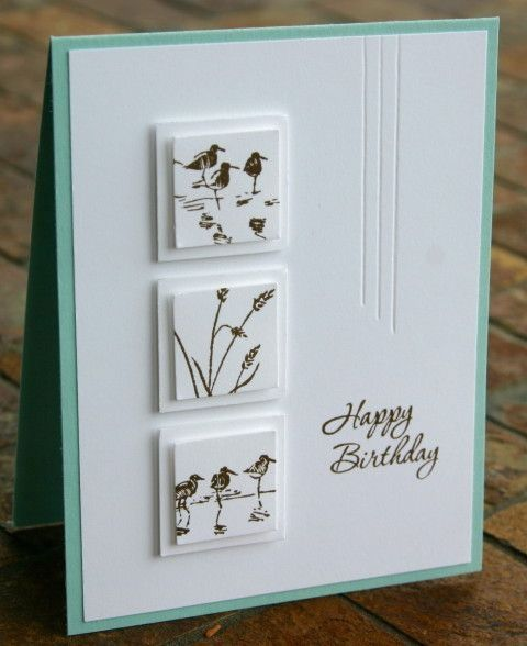 handmade birthday card ... luv the double raised inchies and mats in white ... W...