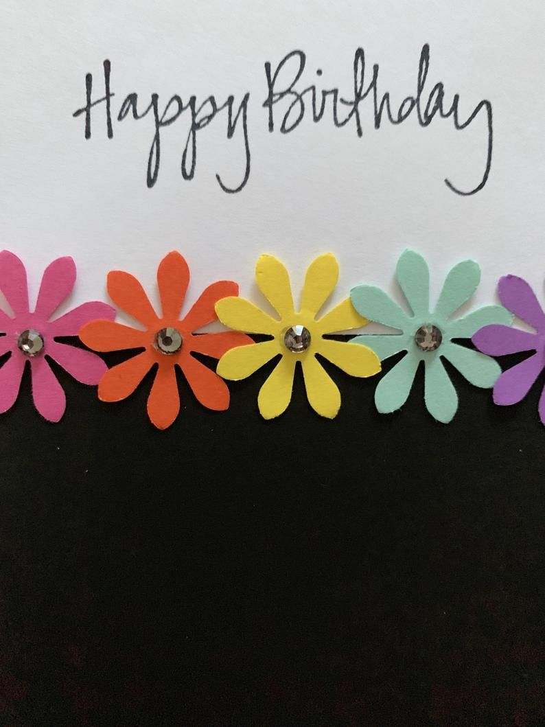 Handmade Birthday Cards. Flower Birthday Cards. Feminine Birthday Cards