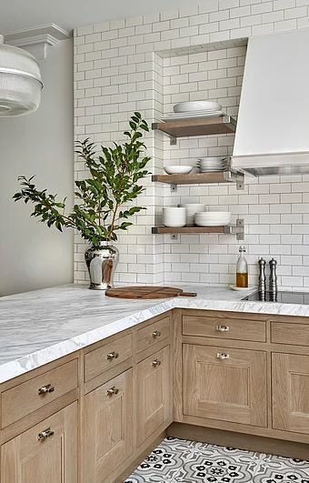 Kitchen decoration ideas white kitchen decor | open shelf | white marble… #… - wood DIY ideas