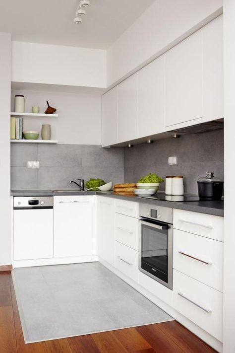 Color design for white kitchens - 32 ideas for wall paint
