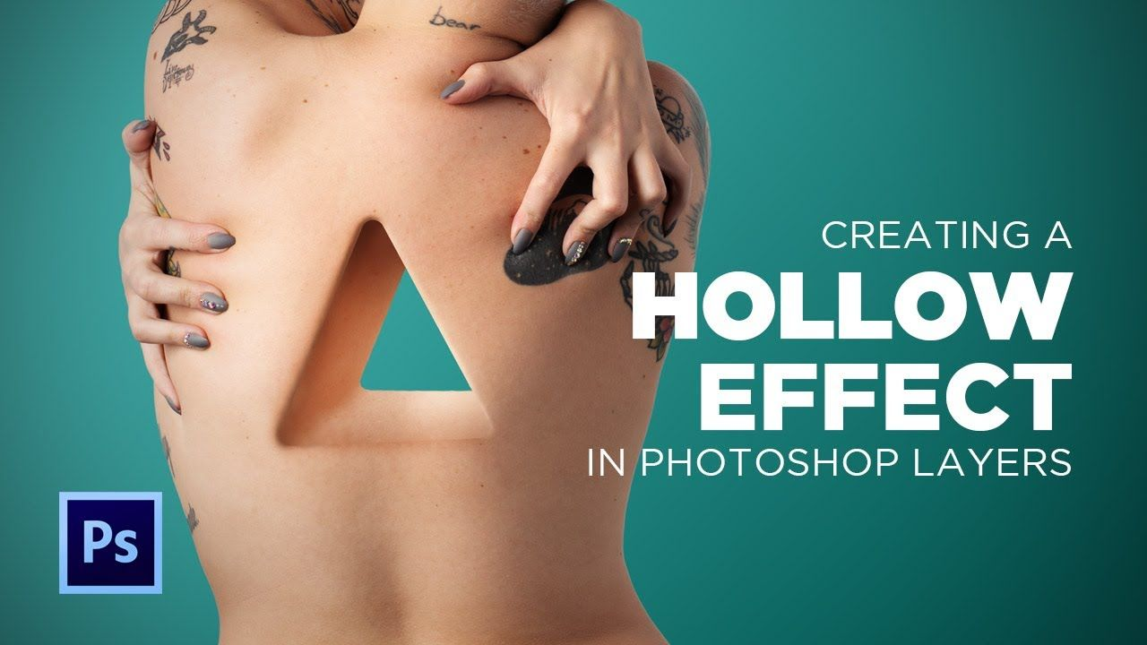 Photoshop: Hollow Effect Using Layers and Brushes