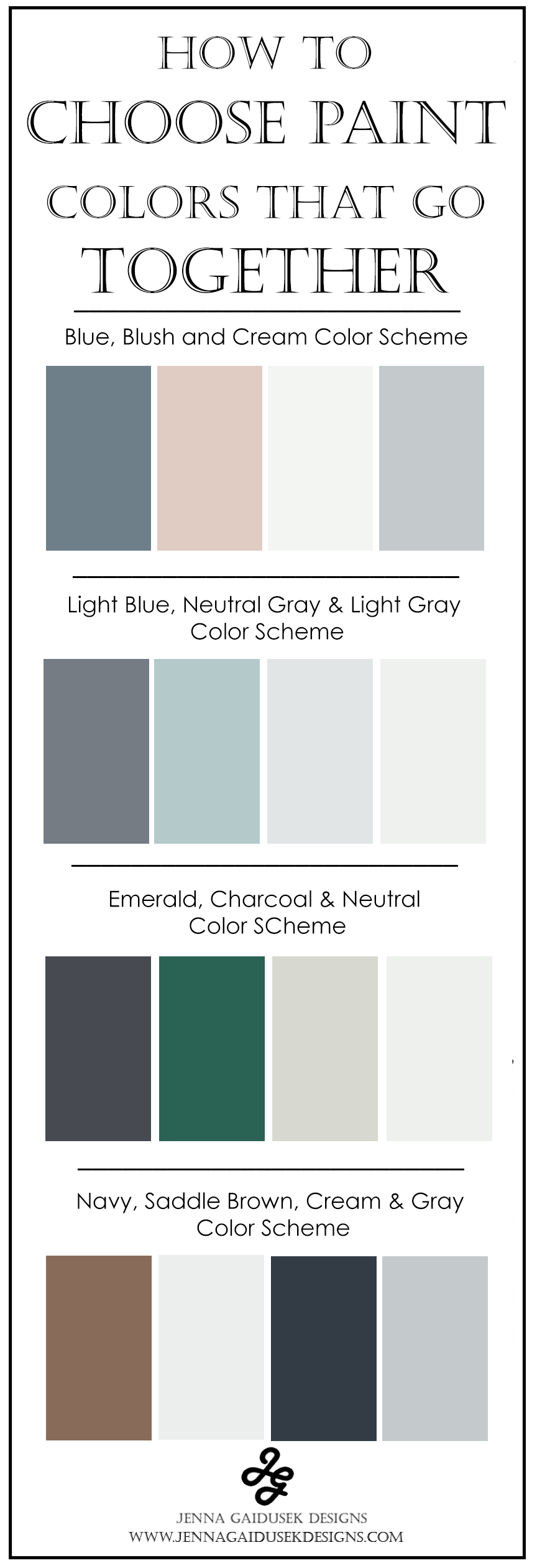 How To Choose Colors That Match - Jenna Gaidusek Designs - 4 Color P ... - New Ideas