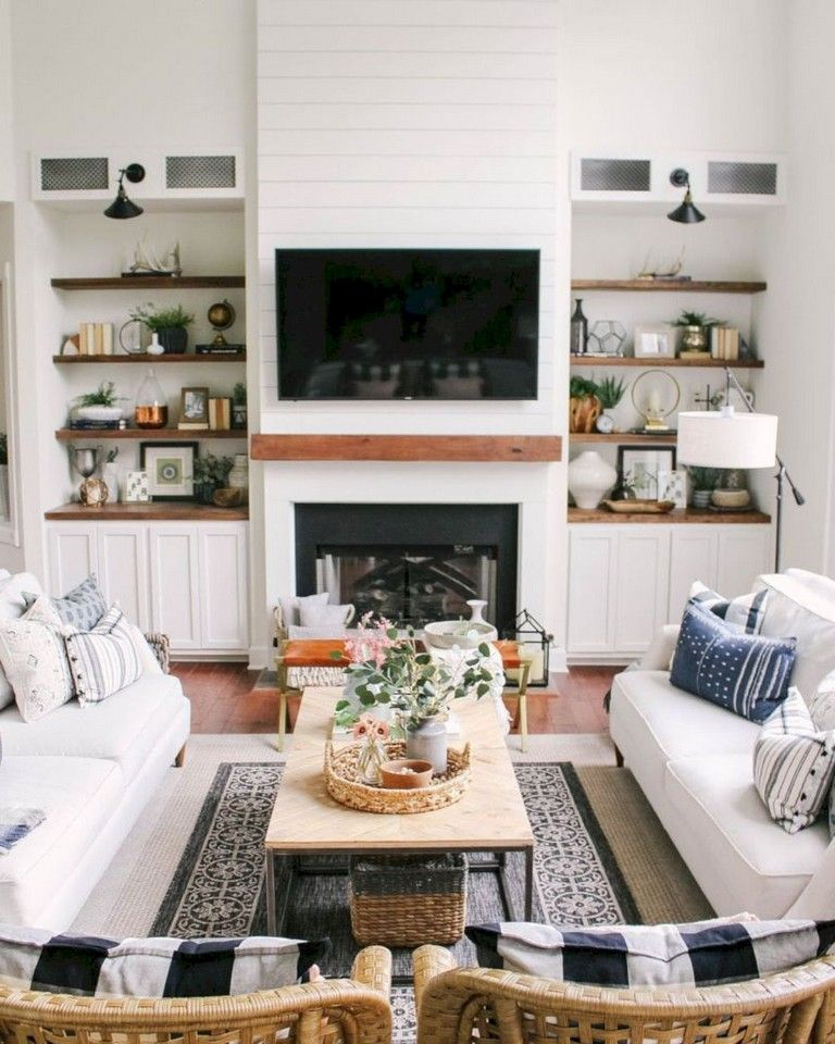 33+ COMFY LIVING ROOM IDEAS WITH FIREPLACE DESIGN
