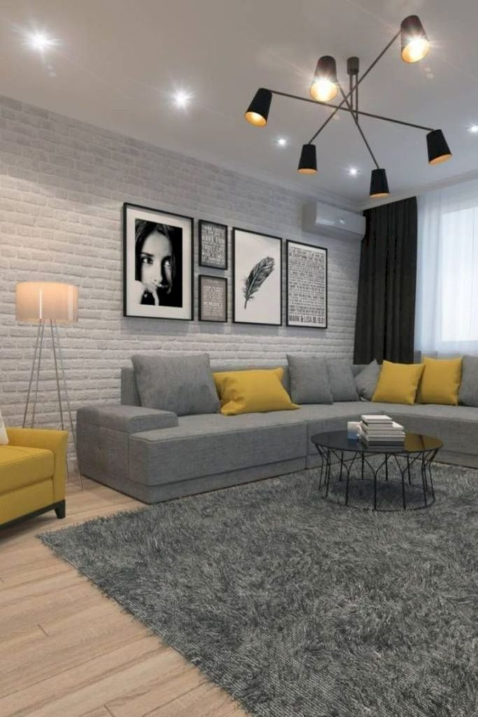 47 Charming Gray Living Room Design Ideas For Your Apartment - ROUNDECOR