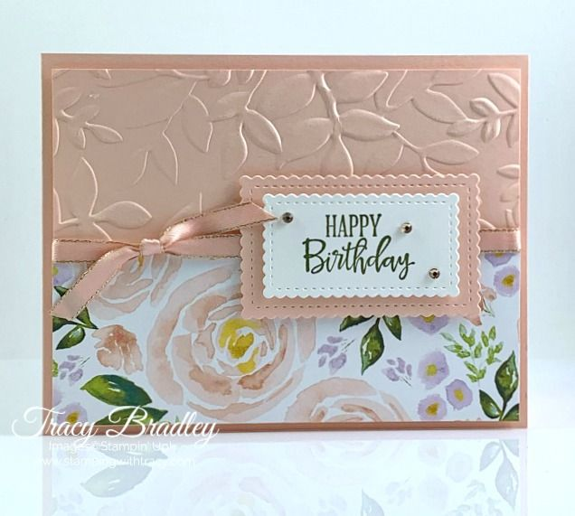 Stampin' Up! Best Dressed Birthday Card - Stamping With Tracy