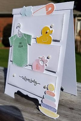 WELCOME BABY HANDMADE CARD KIT, STAMPIN' UP SOMETHING FOR BABY, DRESSER, CHEST   | eBay