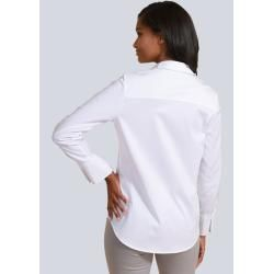 Alba Moda, blouse with pleated detail on the sleeve, white Alba Moda