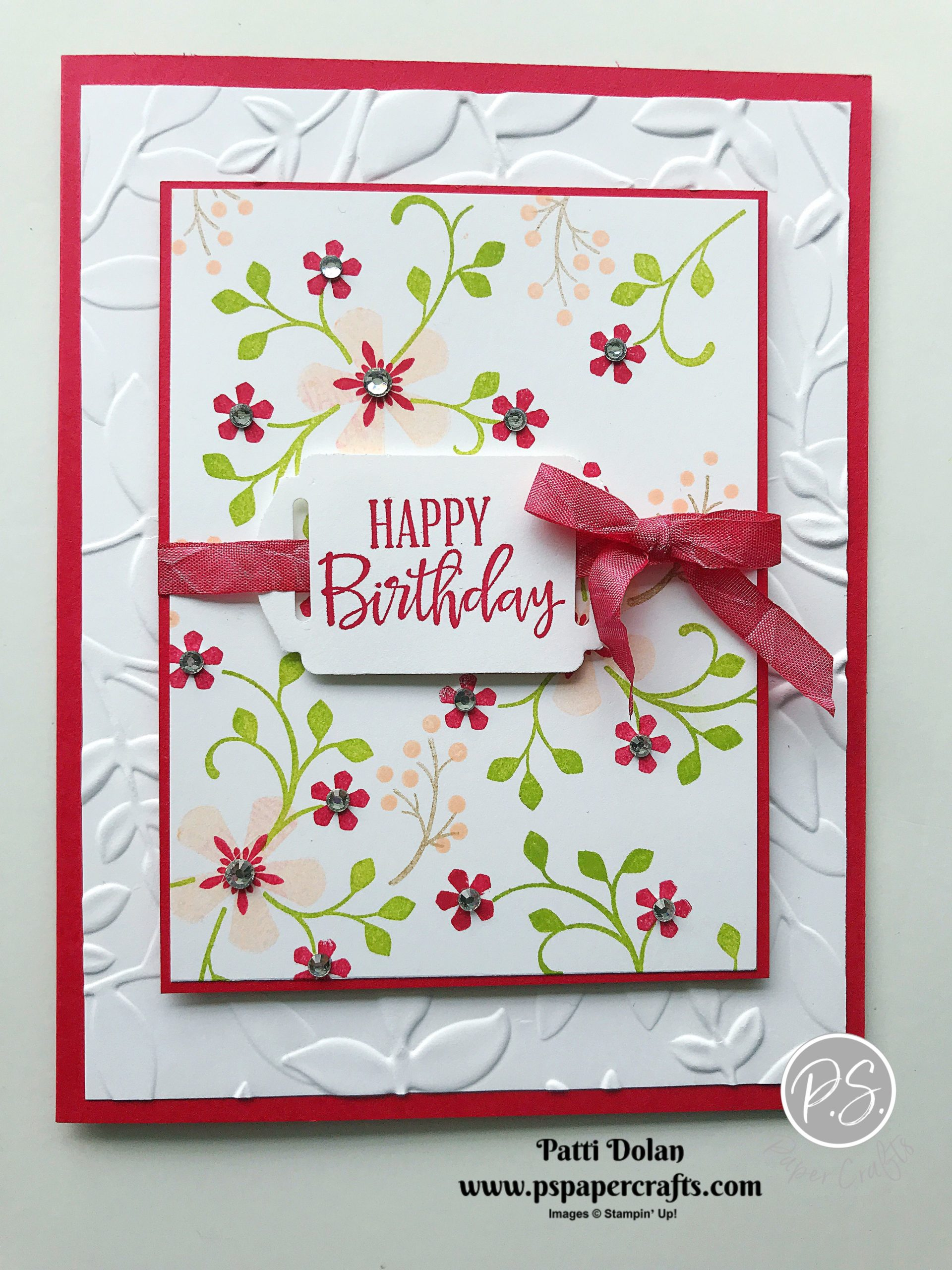 Pretty Birthday Card using Thoughtful Blooms