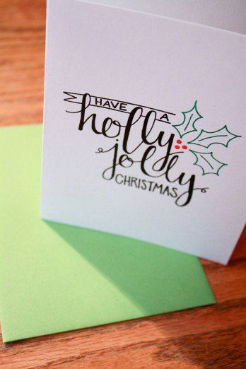 22 Handmade Calligraphy Christmas Cards You Can DIY - #christmas #DIY ...
