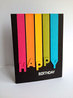 Handmade card of the week: Birthday stripe card