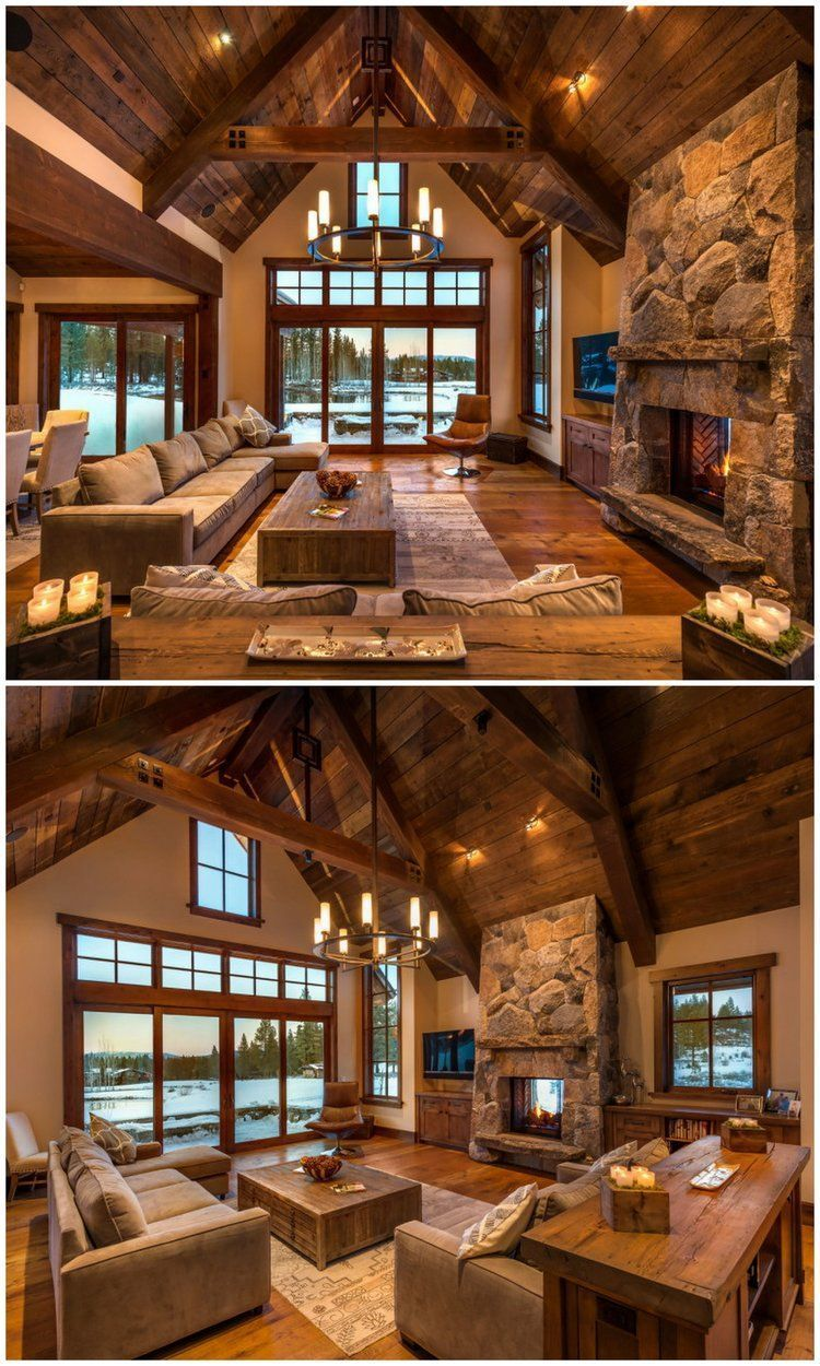 25+ ideas for a rustic living room to decorate your revamp around - Ru ...