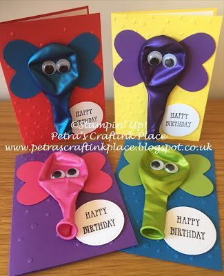 Petra's CraftInk Place: birthday cards with elephant balloons