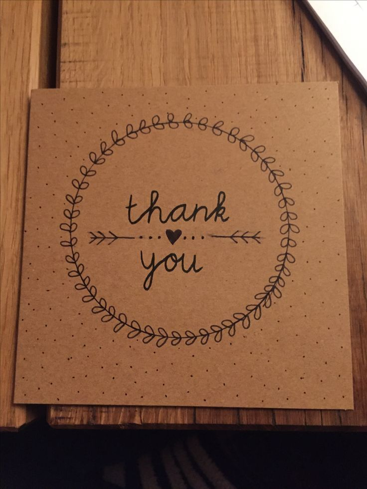 MANUALS - card - card - thank you - thank you card