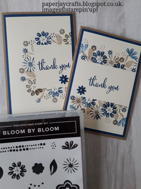 PaperJay Crafts: Bloom by Bloom Thank You Cards