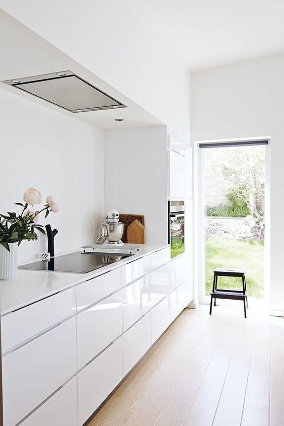 60 decorated white kitchens - beautiful photos - New decoration styles