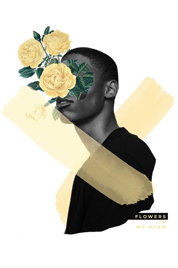 Photoshop Skillshare classes: how to make a floral digital collage portrait