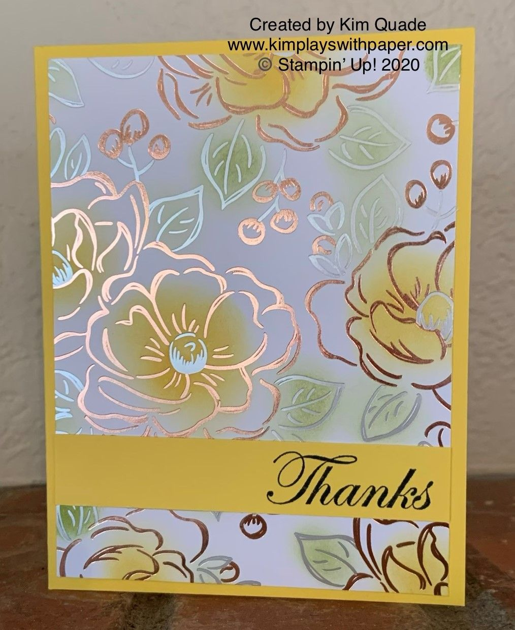 Stampin' Up! Flowering Foils Specialty Designer Series Paper